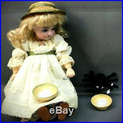 Rare 9 Early Kestner 169 LITTLE MISS MUFFET Closed Mouth Antique Doll Bisque