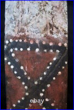 Rare Aboriginal Painted Message Board Eastern Kimberley WithA Early 1900's