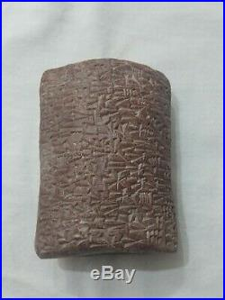 Rare Ancient Near Eastern Clay Tablet With Early Form Of Writing C. 3000-2000b. C