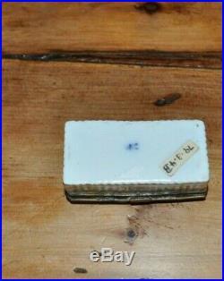 Rare Antique 18thc early Meissen enamel porcelain snuff box