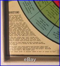Rare Antique 1938 Home Run with Bases Loaded Baseball Board Game Early 1930s Old