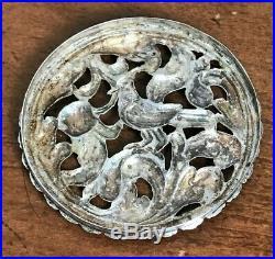 Rare Antique Early 18th Century Continental Silver Vinaigrette / Pomander C. 1700