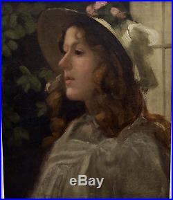 Rare Antique Early 1900's Portrait Oil On Canvas Painting FORBES