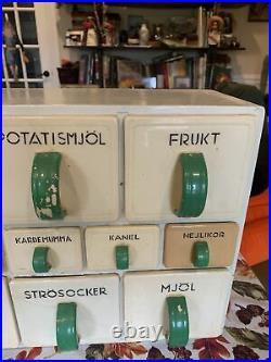 Rare Antique Early 1900s Rörstrand / Rorstrand Canister Set Spice Rack Flour