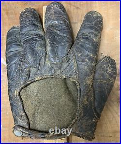 Rare Antique Early 1900s Spalding Webless Crescent Baseball Glove Workman Mitt