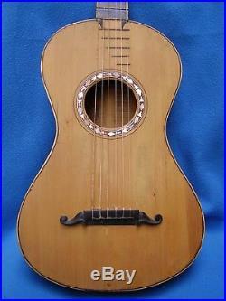 Rare Antique Early Romantic Italian Guitar
