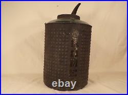 Rare Antique Home Glass / Tin Oil Can Kerosene Can Bottle Early Gas & Oil