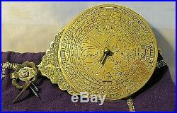 Rare Antique Persian Bedouin Islamic Astrolabe Circa Early 1700s
