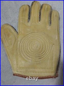 Rare Antique Rawlings early 1900's Leather Baseball or Handball Gloves, sz 9L