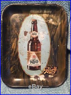 Rare Antique Vintage BLATZ BEER TRAY Early Rectangular BEVERAGE of QUALITY