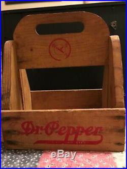 Rare! Antique Vintage Early Dr Pepper 10 2 4 Wood 6 Bottle Carrier Caddy