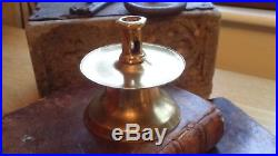 Rare Brass Capstan Candle Stick c1550 Early Tudor Elizabethan 16th 17th