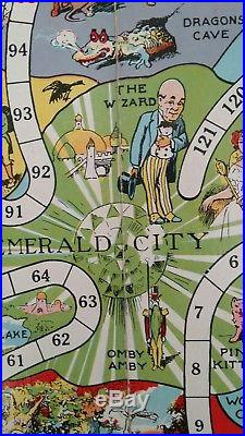 Rare Colorful Antique 1921 Wonderful Game Of Oz Game Board Early Wizard Of Oz