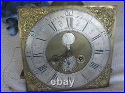 Rare Early 12 X 12 Brass Penny Moon 8 Day Clock And Works By H. Sheppard