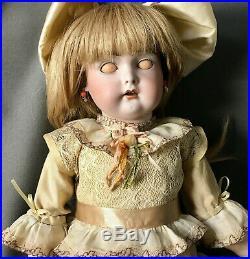Rare Early 17 Kestner Incised C Bisque Head German Antique Doll JDK Cassel