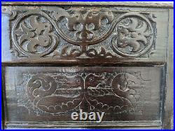 Rare Early 17th Century Elizabethan Welsh Oak Armchair Carved With Dragons c1600