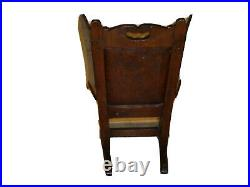 Rare Early 18th Century Carved Oak Childs Lambing Chair