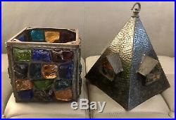 Rare Early 1950s Peter Marsh Large Hall Lantern Signed