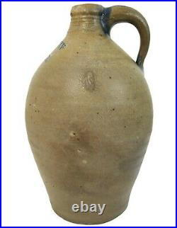 Rare Early 19th C Antique Goodwin & Webster, Boston Ma Ovoid Stoneware Stmpd Jug