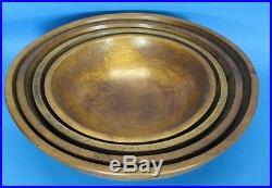 Rare Early 19th C. Primitive American Wood Nesting Bowl Set c. 1840