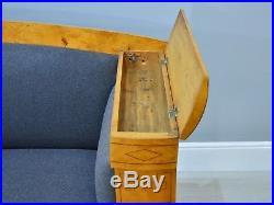 Rare Early 19th Century Antique Biedermeier Satin Birch Sofa Scandinavian 1815
