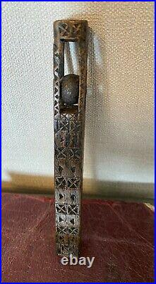 Rare Early 19th Century Ball & Cage Knitting Sheath Welsh Love Token