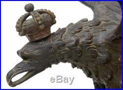 Rare Early 19th Century Carved Hapsburg Decorative Eagle