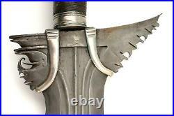 Rare Early 20th C. Philippine Moro Datu's Kris Sword Fine Twistcore Damascus B