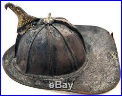 Rare Early 20th Century Antique Fireman Helmet John Olson Co. NYC