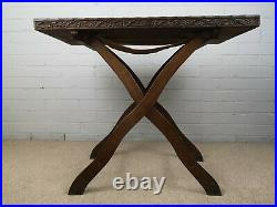 Rare Early 20th Century Indian Hardwood Campaign Folding Tray Table