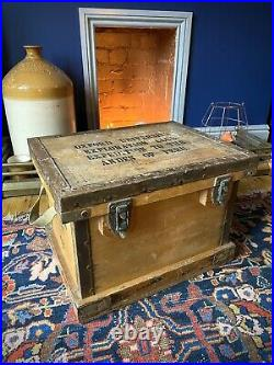 Rare Early 20th Century Oxford University Wooden Mountaineering Expedition Crate