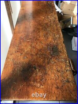 Rare Early 20th Century Vintage American Carpenter Bench WorkTable Desk