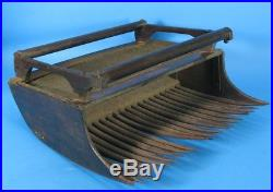 Rare Early American Industrial Cranberry Scoop c. 1870