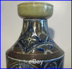 Rare Early Antique Martin Brothers Vase Dated 1879 With Incised Decoration