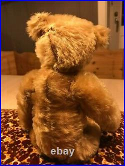 Rare Early Antique Steiff Bear with Blank Button and White Tag Remnant