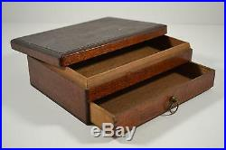 Rare Early Antique Wood Chocolate Candy Store Box Use For Jewelry Marbles Etc