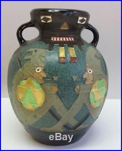 Rare Early Austrian JUGENDSTIL Pottery Vase EDUARD STELLMACHER c. 1890s Amphora