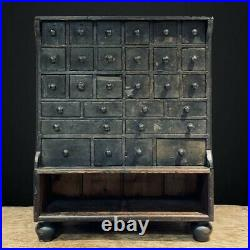 Rare Early Bank Of Drawers Victorian Antique Apothecary Spice Vintage