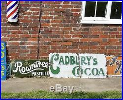 Rare Early Cadburys Cocoa Enamel Sign