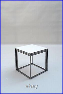 Rare Early Edition Poul Kjaerholm PK 21 Nesting Tables 1950s wegner jacobsen era