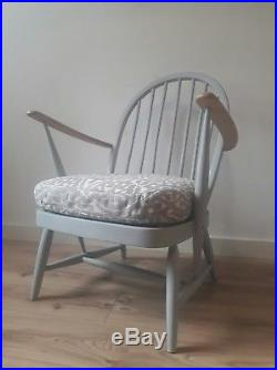 Rare Early Ercol Windsor Low Tub Chair Antique Modernised