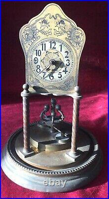 Rare & Early German 400 Day, Anniversary, Torsion Clock