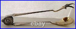 Rare Early Gorham Medallion Sterling 11 3/8 Fried Chicken Tongs C. 1865