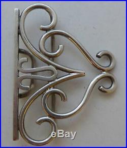 Rare Early Murrle Bennett & Co 1898 Hallmarked Solid Silver Nurses Belt Buckle