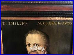 Rare Early Old Master Portrait Painting Of Philip Melanchthon (1497 1560)