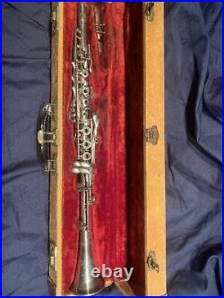 Rare Early Vintage Silver King Clarinet