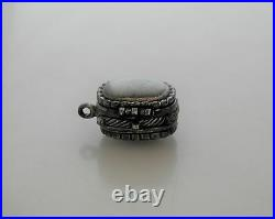 Rare Early William Spratling for Silson Silverplate Pill Box Rope Edging 1944