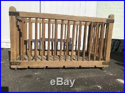 Rare Early Wood Laundry Trolley Architectural Salvage / Industrial