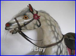 Rare Early antique bow rocking horse from Scottish Castle with provenance