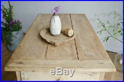 Rare French Antique Early 18C Farmhouse Hunt Table / Kitchen Island with Drawers